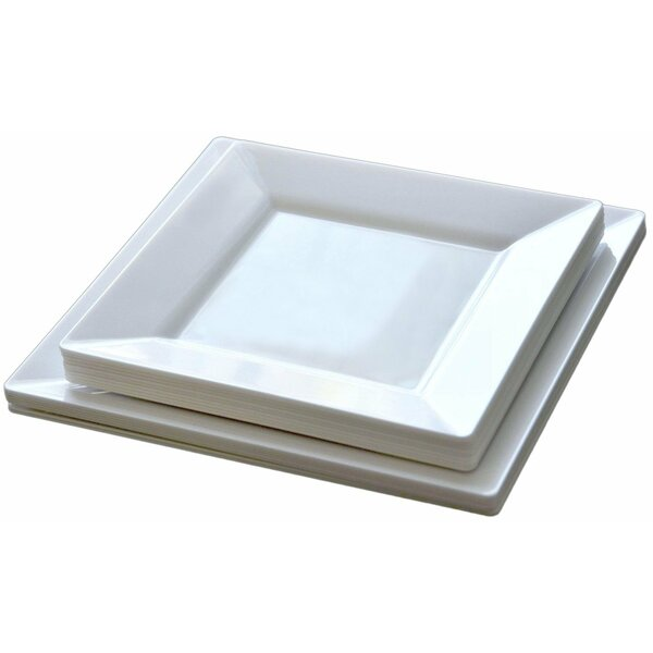 50 Piece Plastic Dinnerware Set by Table to go