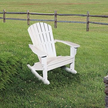 Plastic Rocking Adirondack Chair by Seaside Casual