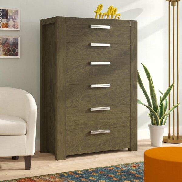 Sirena 6 Drawer Chest by Brayden Studio