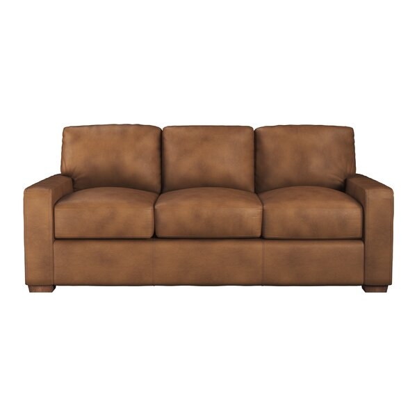 Blanca Leather Sofa Bed by Westland and Birch