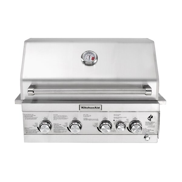 4-Burner Built-In Liquid Propane Gas Grill - 740-0780 by KitchenAid
