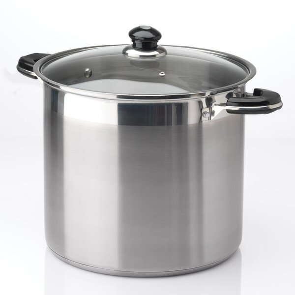20-qt. Stock Pot with Lid by Prime Pacific