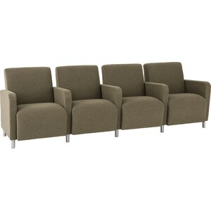 Ravenna Series 4 Seater with Center Arms by Lesro