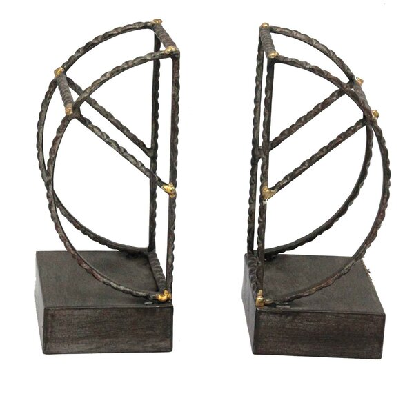 Black Metal Book Ends (Set of 2) by Donny Osmond Home