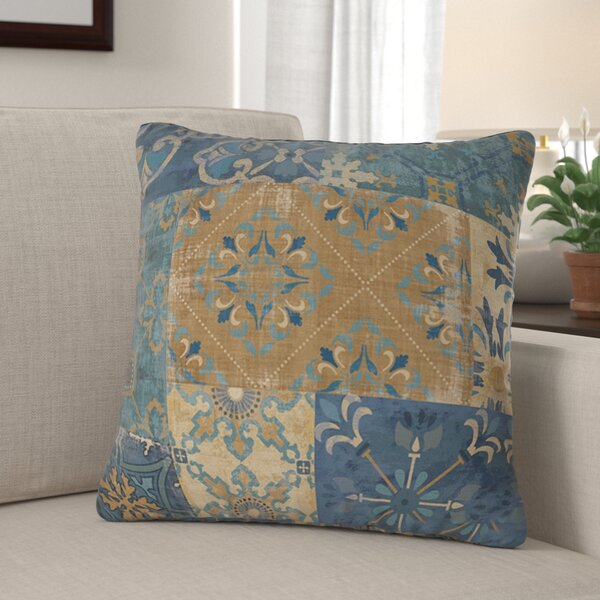 Michael Moroccan Patchwork Printed Throw Pillow by Fleur De Lis Living