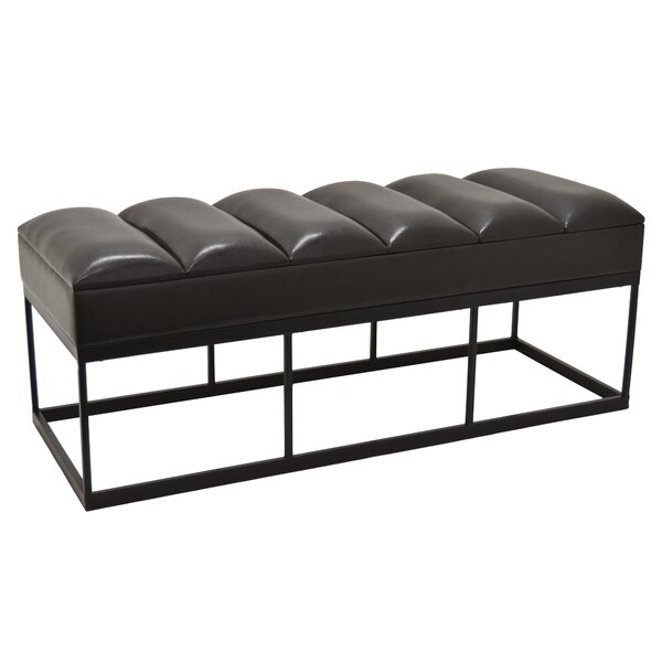 Arango Faux Leather Bench by Mercer41