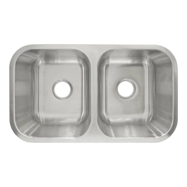 31.5 L x 18.13 W Undermount Double Basin Kitchen Sink by LessCare