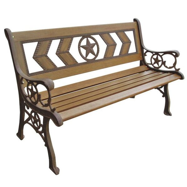 Texas Wood and Metal Park Bench by DC America