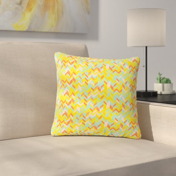 Allison Soupcoff Chevron Pop Pattern Outdoor Throw Pillow by East Urban Home