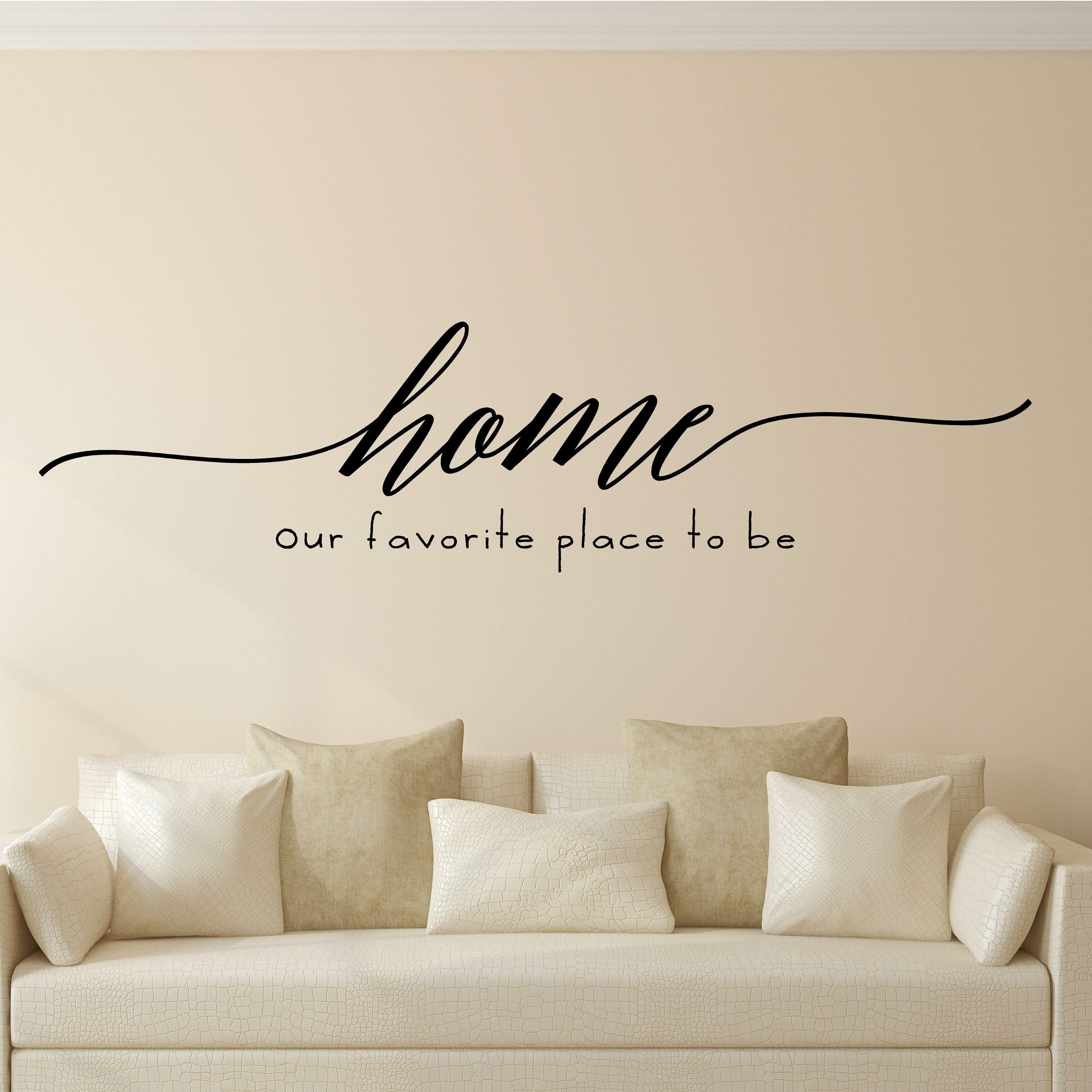 WALL DECAL VINYL WALL QUOTE MAY OUR HOME BE FILLED WITH LAUGHTER FAMILY..