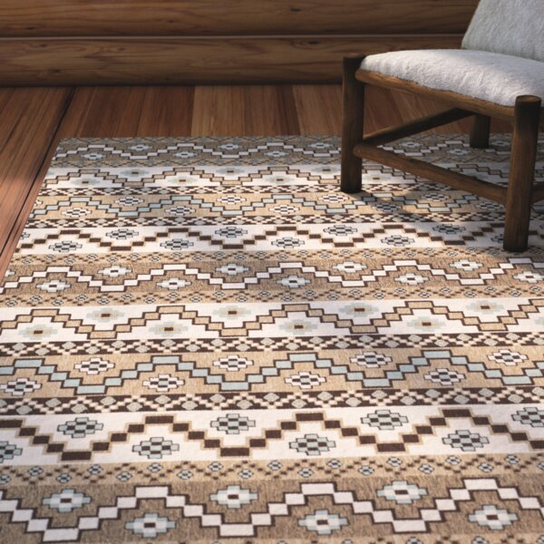 Rangely Brown/Ivory Indoor/Outdoor Area Rug by Loon Peak
