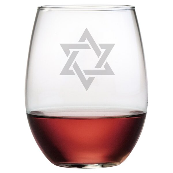 Star of David Stemless Wine Glass (Set of 4) by Susquehanna Glass