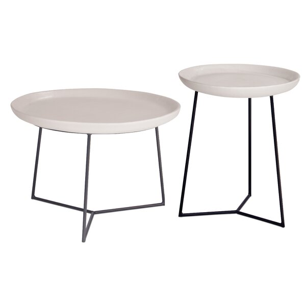 Perpetual 2 Piece Link Stone/Concrete Side Table by Seasonal Living