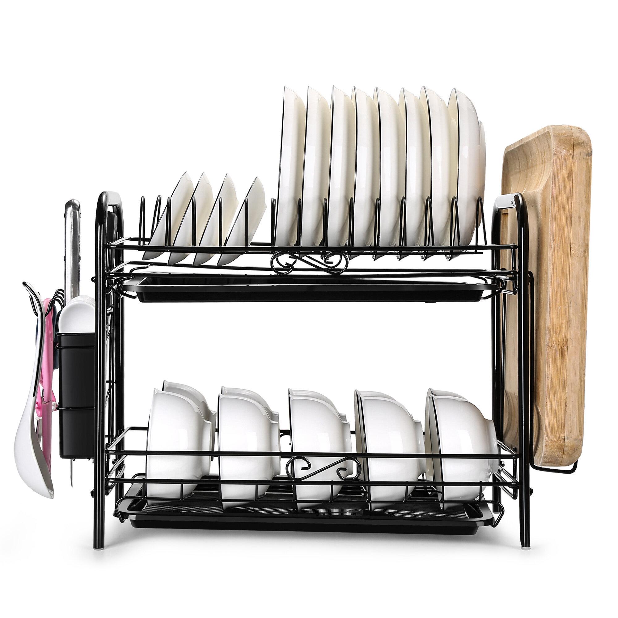 2 tiers metal dish rack