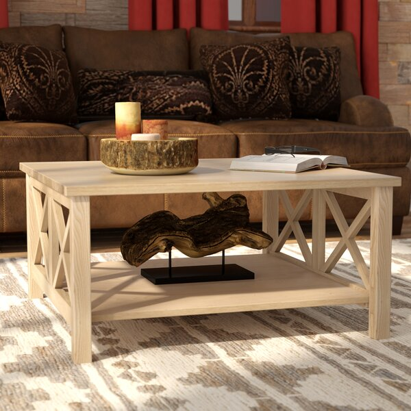 Cosgrave Double X Coffee Table by Beachcrest Home