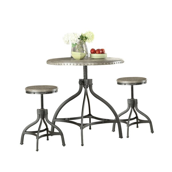 Kangley 3 Piece Counter Height Dining Set by Breakwater Bay