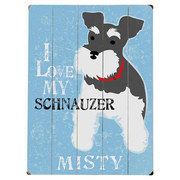 Personalized Schnauzer Graphic Art Print Multi-Piece Image on Wood by Artehouse LLC