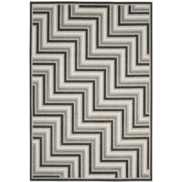 Holly Gray Outdoor Area Rug by Langley Street