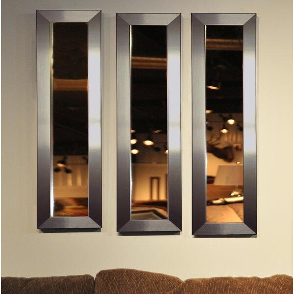 3 Piece Wanneroo Petite Panels Mirror Set by Wrought Studio