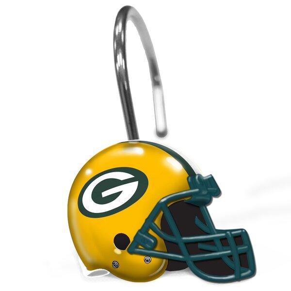 NFL Helmet Shower Curtain Hooks by Northwest Co.