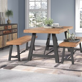 Lebanon 3 Piece Wood Dining Set & Dining Table With Bench Set | Wayfair