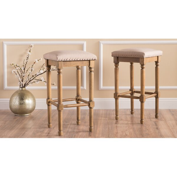 Register 26.75 Bar Stool (Set of 2) by Ophelia & Co.