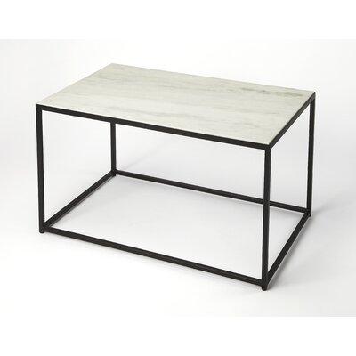 Gettys Marble/Metal Coffee Table Ivy Bronx