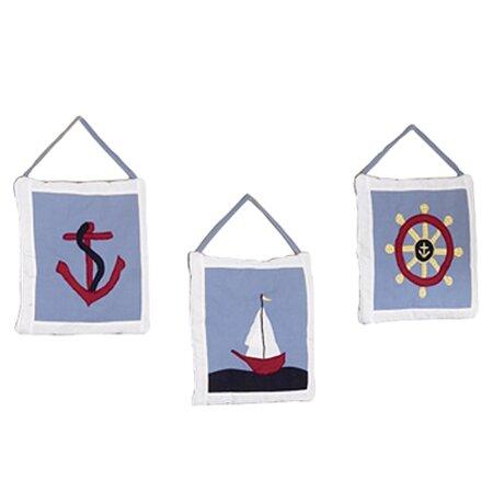 3 Piece Come Sail Away Hanging Art Set