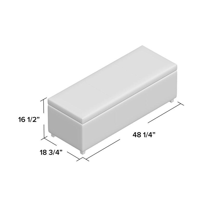Charlton Home Ephraim Leather Storage Bench Reviews