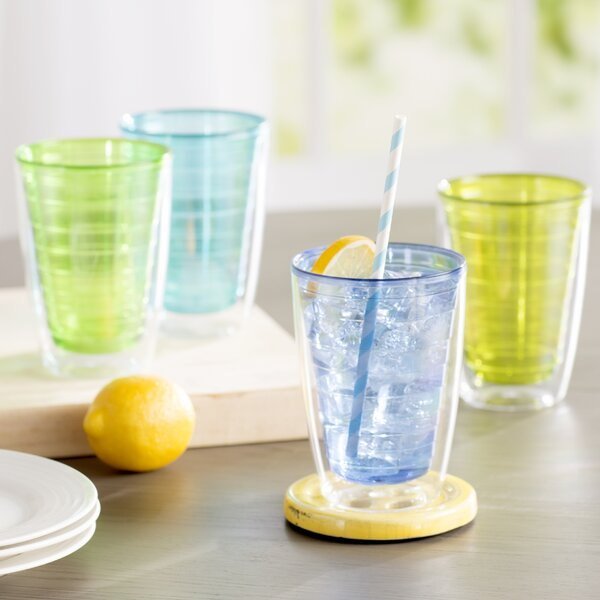 Quinn Plastic Every Day Glass (Set of 4) by Latitude Run