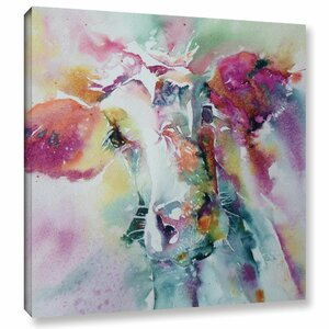 Cow 26 Painting Print on Wrapped Canvas by Latitude Run
