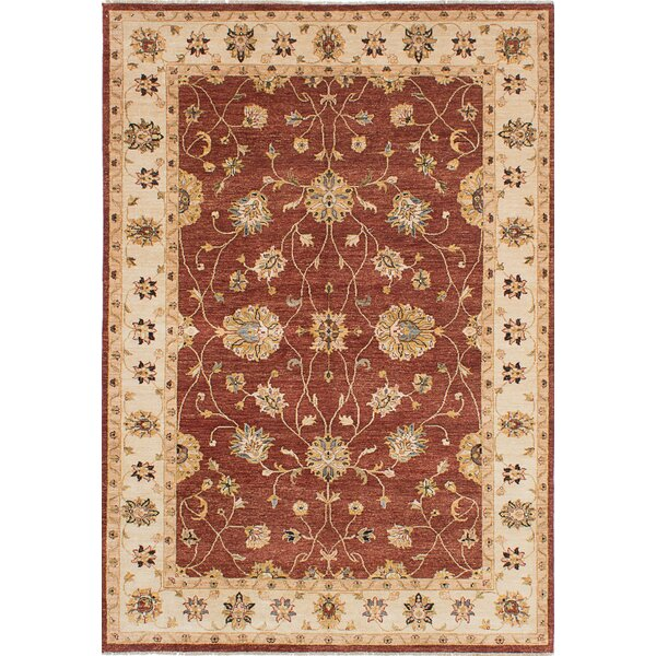One-of-a-Kind Chobi Twisted Hand-Knotted Burgundy Area Rug by ECARPETGALLERY