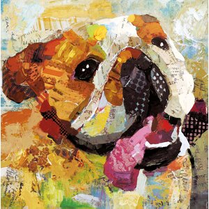 Art Dog Bulldog by Sandy Doonan Painting Print on Wrapped Canvas by Portfolio Canvas Decor