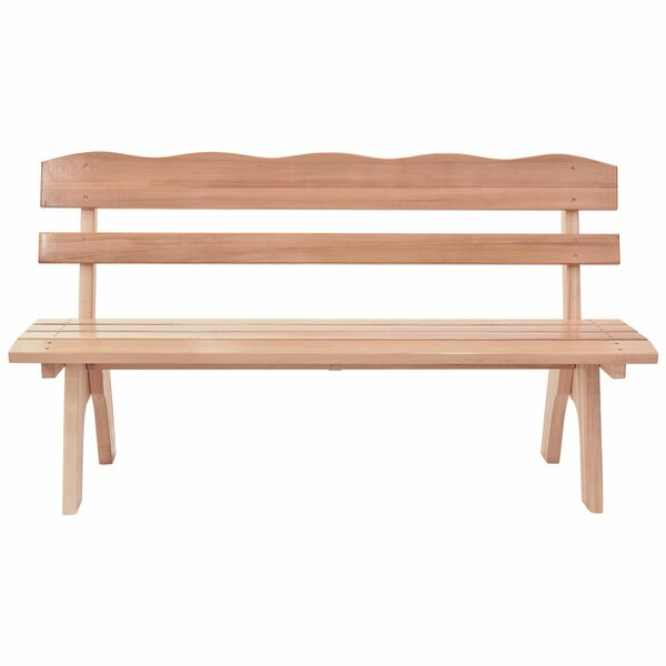 Johan Wooden Garden Bench by Millwood Pines