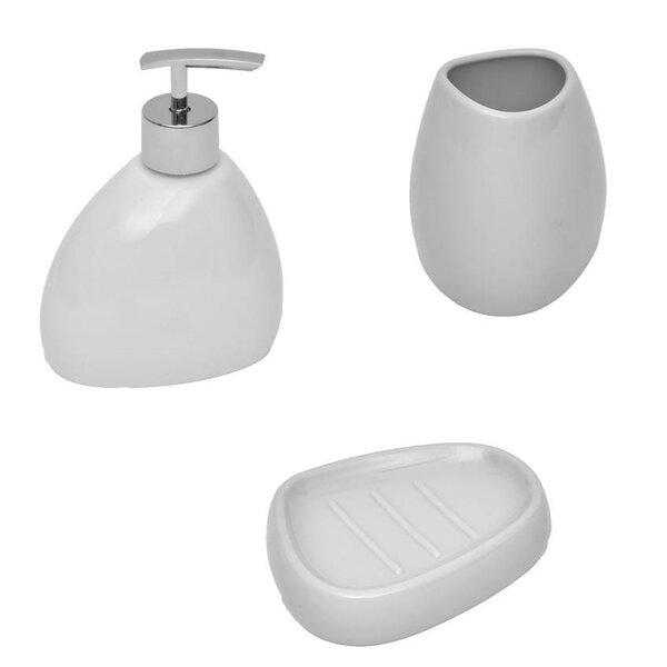 Elegance 3 Piece Bathroom Accessory Set by Evideco
