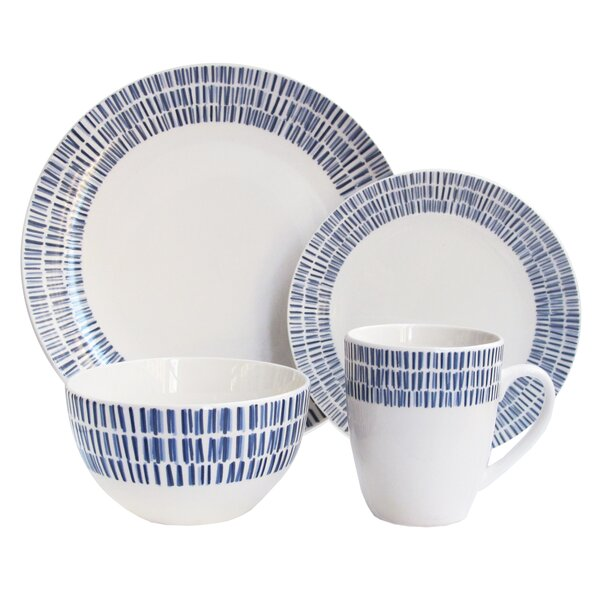 Driskell 16 Piece Dinnerware Set, Service for 4 by Ebern Designs