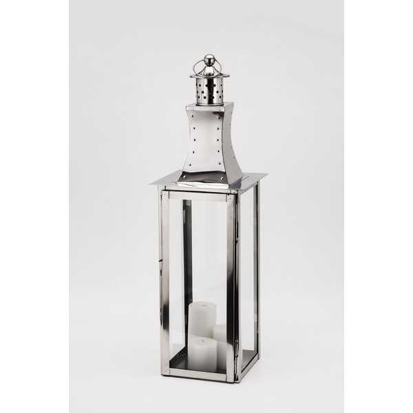 Tower Steel Lantern by Fashion N You by Horizon Interseas