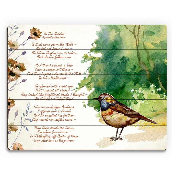 In the Garden Textual Art on Plaque by Click Wall Art