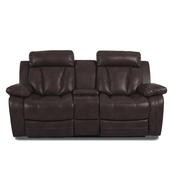 Heppner Reclining Brown Loveseat by Red Barrel Studio