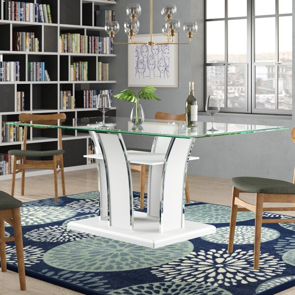 Peralez Dining Table by Orren Ellis Orren Ellis