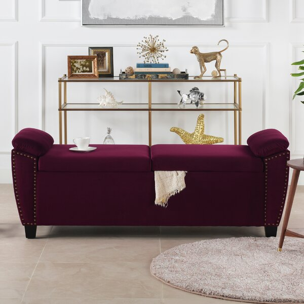 Hartwig Upholstered Flip Top Storage Bench by House of Hampton House of Hampton