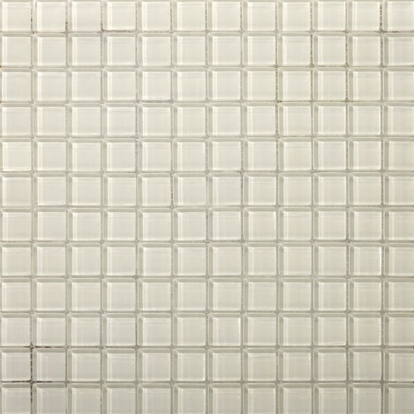 Lucente 1 x 1 Glass Mosaic Tile in Blanc by Emser Tile