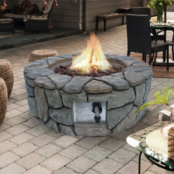 Stone Gas Fire Pit by Peaktop