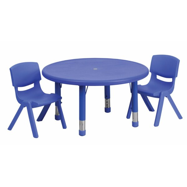 3 Piece Circular Activity Table & 23.75H Chair Set by Offex