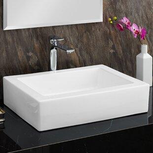 Reviews Voltaire Ceramic Rectangular Vessel Bathroom Sink BySwiss Madison
