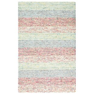 Sampler Stripe Hand-Woven Blue/Pink Indoor/Outdoor Area Rug By CompanyC