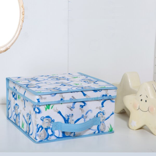 Kids Collapsible Storage Fabric Box in Cheeky Monkey by Laura Ashley Home