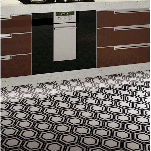 Yinyang Random Sized Marble Tile in Black/White by Multile