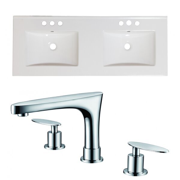 Xena 59 Double Bathroom Vanity Top