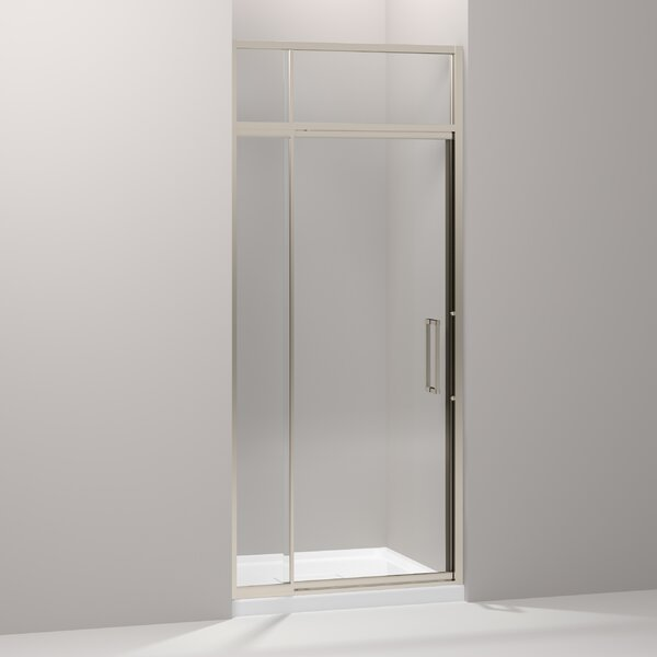 Lattis 36 x 89.5 Pivot Shower Door with Sliding Steam Transom by Kohler